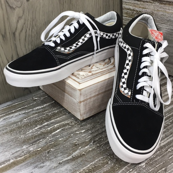 Vans Old Skool (Sidestripe V) BlackTrue White NWT